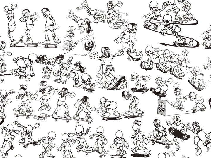 radical skats pattern